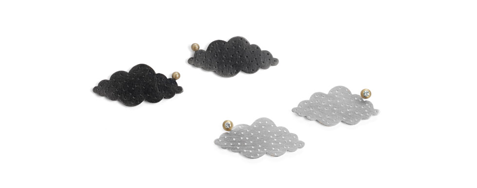 Large Cloud Earrings
