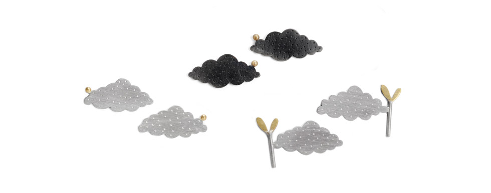 Small Cloud Earrings