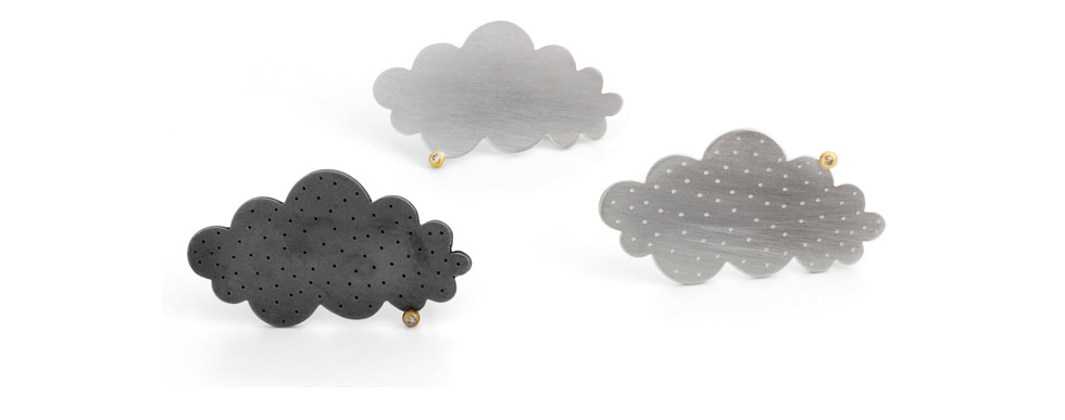 Single Cloud Brooches