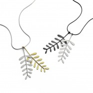 mimosa pendant two stems all silver