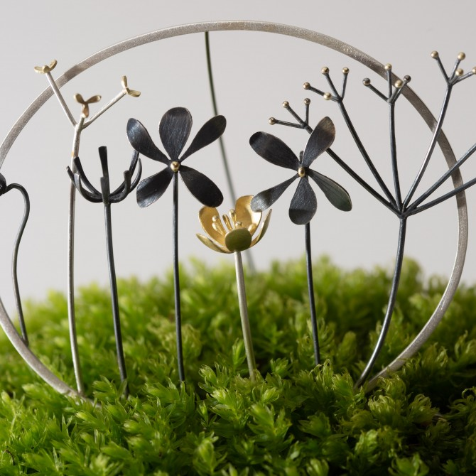 As seen on BBC1 Countryfile Large wildflower brooch I