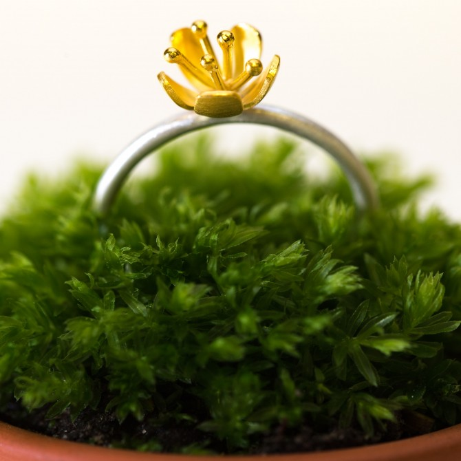 NEW – buttercup ring small flower